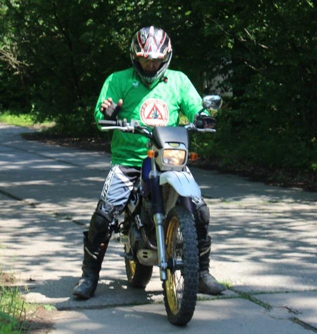 Знакомство с мотоциклом!